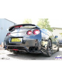 4 Second Racing Club Nissan GT R35 2008-2018 Carbon Gumey Flap add on spoiler