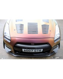 4 Second Racing Club Nissan GT R35 Two piece M style carbon fibre front bumper canards DBA