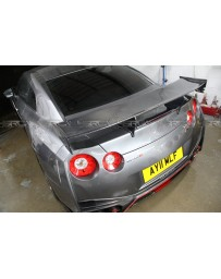 4 Second Racing Club Nissan GT R35 NISMO Style Rear Spoiler full carbon fibre made