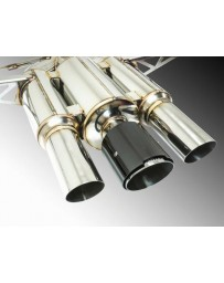 Remark Spec III Resonated Triple Tip Catback Exhaust w/ Black Chrome Tip Cover Honda Civic Type-R 17-19