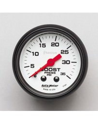 Nissan GT-R R35 AutoMeter Phantom Mechanical Boost Gauge 35 PSI - 52mm