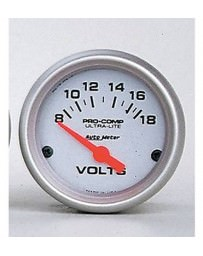 Nissan GT-R R35 AutoMeter Ultra-Lite Electronic Short Sweep Voltmeter Gauge - 52mm