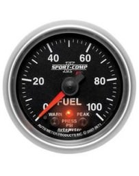 Nissan GT-R R35 AutoMeter Sport-Comp II Electronic Fuel Pressure Gauge 100 PSI - 52mm
