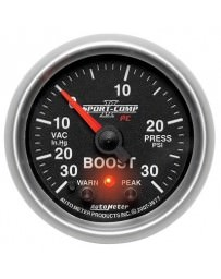 Nissan GT-R R35 AutoMeter Sport-Comp II Electronic Boost / Vacuum Gauge 30 PSI - 52mm