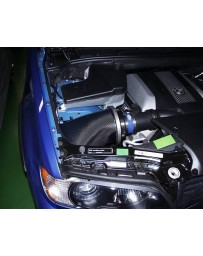 350z DE aFe Takeda Retain Stage 2 Aluminum Polished Short Ram Air Intake System with Pro Dry S Gray Filter
