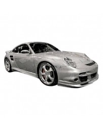 VIS Racing 2005-2011 Porsche 997 2Dr Turbo Style Front Bumper With Optional A Tech Front Lip