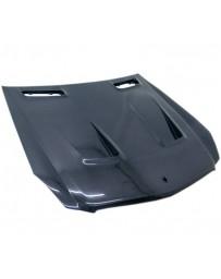 VIS Racing Carbon Fiber Hood BLK Series Style for Mercedes SL 2DR 03-12