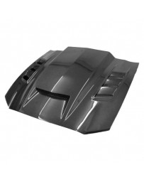 VIS Racing Carbon Fiber Hood Terminator Style for Ford MUSTANG 2DR 13-14
