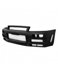 VIS Racing 1999-2004 Nissan Skyline R34 Gtr 2Dr Techno R Front Bumper