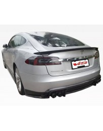 VIS Racing 2012-2015 Tesla Model S VIP Carbon Fiber Rear Lip