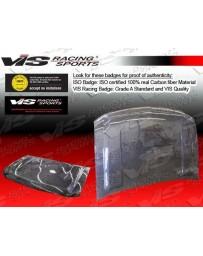 VIS Racing 1999-2002 Chevrolet Silverado 4Dr Oem Style Carbon Fiber Hood
