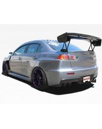 VIS Racing Carbon Fiber Spoiler VTX Style for Mitsubishi Evo 10 4DR 08-15