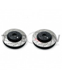350z DE Stoptech Direct Replacement Rotors for Standard Non-Sport Calipers, Drilled, Rear Pair