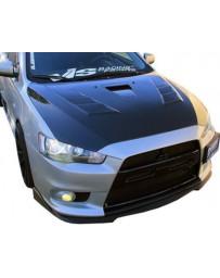 VIS Racing Carbon Fiber Hood Terminator GT Style for Mitsubishi Lancer 4DR 08-16