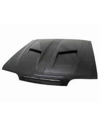 VIS Racing Carbon Fiber Hood Stalker 2 Style for Ford MUSTANG 2DR 87-93