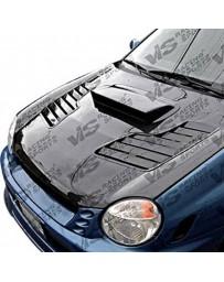 VIS Racing Carbon Fiber Hood Tracer Style for Subaru WRX 4DR 02-03