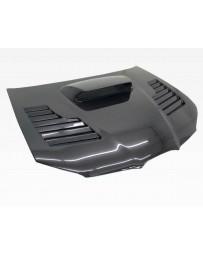 VIS Racing Carbon Fiber Hood Tracer Style for Subaru WRX 4DR 06-07