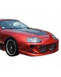 VIS Racing Carbon Fiber Hood Invader Style for Toyota Supra 2DR 93-98