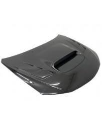 VIS Racing Carbon Fiber Hood Terminator Style for Subaru WRX Hatchback & 4DR 08-14