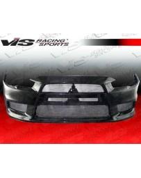 VIS Racing 2008-2014 Mitsubishi Evo 10 Oem Style Carbon Fiber Front Bumper Cover