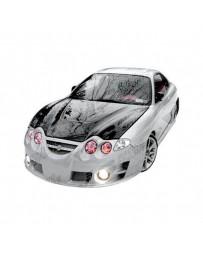 VIS Racing Carbon Fiber Hood Invader Style for Hyundai Tiburon 2DR 00-02