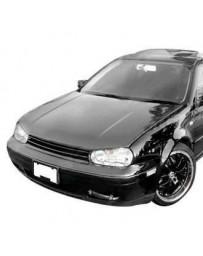 VIS Racing Carbon Fiber Hood Boser Style for Volkswagen Golf 4 2DR & 4DR 99-05