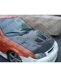 VIS Racing 2002-2003 Mazda Protege 5 5Dr Evo Carbon Fiber Hood