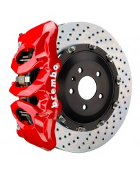 Toyota Supra GR A90 MK5 Brembo GT 380x34mm 2-Piece 6-Piston Flourescent Yellow Front Drilled Big Brake Kit