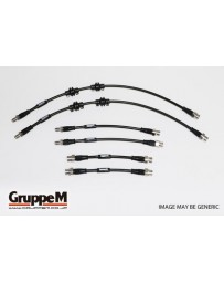 GruppeM FIAT 500 1.4 2007 ~ STAINLESS STEEL FITTING FRONT & REAR SET (BH-9002S)