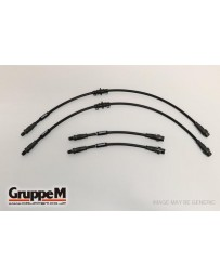 GruppeM MERCEDES W204 C63 AMG 6.2 (S/W/C) 2007 - 2015 ~ CARBON STEEL FITTING FRONT & REAR SET (BH-4001)