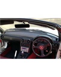 ChargeSpeed OEM Carbon Dashboard Cover (Japanese CFRP) Right Hand Drive - JDM Plain Weave - 90-98 Mazda Miata