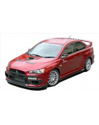 ChargeSpeed Bottom Line Full Lip Kit (5PCS) Carbon CS427FL1C, CS428SS1C, CS427RC1C Mitsubishi Lancer Evo X 11-16