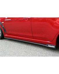 ChargeSpeed Bottom Line Type-2 Side Skirts FRP (Japanese FRP) Mitsubishi Lancer Evo X 11-16