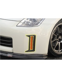 ChargeSpeed Reflector Cowl Carbon for Front Bumper (Japanese CFRP) Nissan 350Z 03-08
