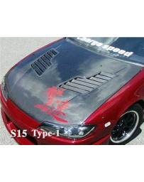 ChargeSpeed Vented FRP Hood (Japanese FRP) Nissan Silvia S15 99-05