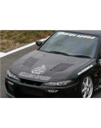 ChargeSpeed Type-2 Vented FRP Hood (Japanese FRP) Nissan Silvia S15 99-05