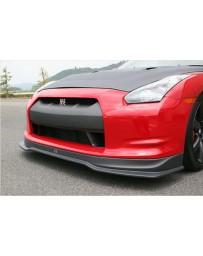 ChargeSpeed Model Bottom Line Hybrid Gloss Carbon Front Lip (Japanese CFRP) 07-11 Nissan GTR Zenki