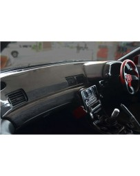 ChargeSpeed OEM Carbon Dashboard Cover (Japanese CFRP) Right Hand Drive - JDM Plain Weave - Nissan GTR BNR32 89-91
