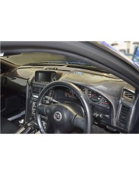 ChargeSpeed OEM Carbon Dashboard Cover (Japanese CFRP) Right Hand Drive Nissan GTR BNR34 99-02