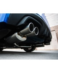 Agency Power Catback Exhaust System Polished Quad Tips Subaru WRX STI Sedan 11-18