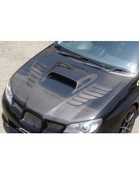ChargeSpeed Type-2 Vented Carbon Hood Japanese CFRP (Not Street Legal) Hood Pin Required Subaru Impreza WRX GD 06-07