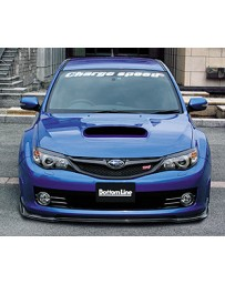ChargeSpeed Bottom Lines Type 2 Front Lip Carbon (Japanese CFRP) Subaru WRX Sti 08-10