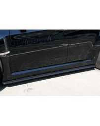ChargeSpeed Bottom Lines Type-1 FRP Side Skirts (Japanese CFRP) Subaru WRX STi GR-B 08-14