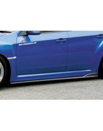 ChargeSpeed Bottom Lines Type-2 FRP Side Skirts (Japanese CFRP) Subaru WRX STi GR-B 08-14