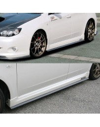ChargeSpeed Bottom Line Side Skirts FRP (Japanese FRP) Subaru WRX NON-STi GH8 Sedan/ Hatchback 08-10