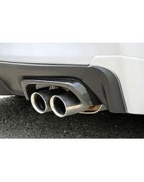 ChargeSpeed Dry Carbon Exhaust Finisher Cowl in Twill Weave -Subaru WRX STi 4 Doors Sedan VA-B/ WRX S4 VAG 15-19