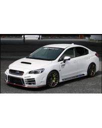 ChargeSpeed Type-3B Front Bumper with Carbon Under Part (Japanese CFRP/ FRP) - With LED Lights Subaru WRX STi 15-19