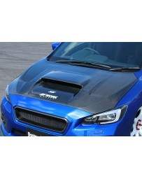 ChargeSpeed Carbon Vented Hood (Japanese CFRP) Subaru WRX STi 15-19