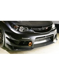 Varis FRP Fiber Lip Spoiler Subaru STI GRB 08-12