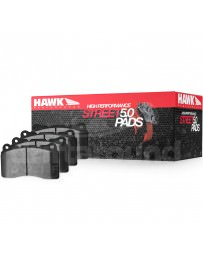 370z Hawk High Performance Street 5.0 Brake Pads, Sport Akebono Calipers Front